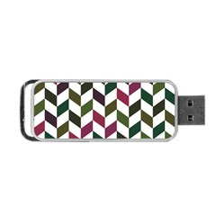 Zigzag Chevron Pattern Green Purple Portable Usb Flash (two Sides) by snowwhitegirl
