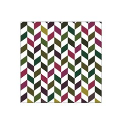 Zigzag Chevron Pattern Green Purple Satin Bandana Scarf by snowwhitegirl