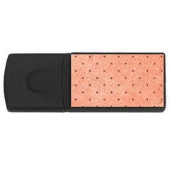 Dot Peach Rectangular Usb Flash Drive by snowwhitegirl