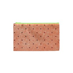 Dot Peach Cosmetic Bag (xs) by snowwhitegirl