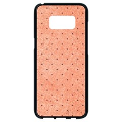 Dot Peach Samsung Galaxy S8 Black Seamless Case by snowwhitegirl