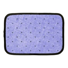 Dot Blue Netbook Case (medium)  by snowwhitegirl