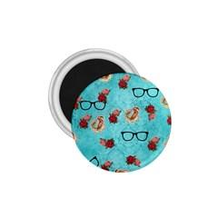 Vintage Glasses Blue 1 75  Magnets by snowwhitegirl