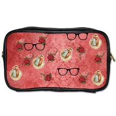 Vintage Glasses Rose Toiletries Bags by snowwhitegirl