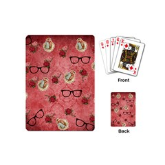 Vintage Glasses Rose Playing Cards (mini)