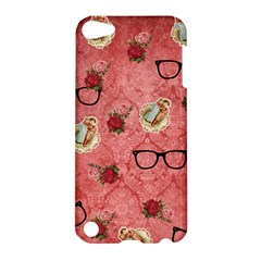 Vintage Glasses Rose Apple Ipod Touch 5 Hardshell Case by snowwhitegirl