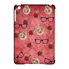 Vintage Glasses Rose Apple Ipad Mini Hardshell Case (compatible With Smart Cover) by snowwhitegirl