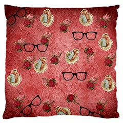 Vintage Glasses Rose Standard Flano Cushion Case (one Side) by snowwhitegirl
