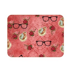 Vintage Glasses Rose Double Sided Flano Blanket (mini)  by snowwhitegirl