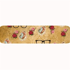 Vintage Glasses Beige Large Bar Mats by snowwhitegirl