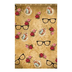 Vintage Glasses Beige Shower Curtain 48  X 72  (small)  by snowwhitegirl