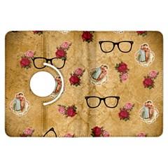 Vintage Glasses Beige Kindle Fire Hdx Flip 360 Case by snowwhitegirl