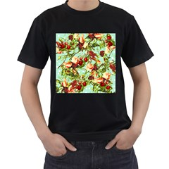 Fruit Blossom Men s T Shirt (black) (two Sided) by snowwhitegirl