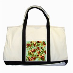 Fruit Blossom Two Tone Tote Bag by snowwhitegirl