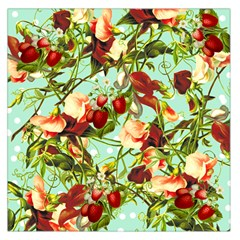 Fruit Blossom Large Satin Scarf (square) by snowwhitegirl