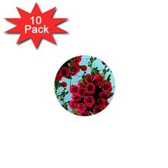 Roses Blue 1  Mini Magnet (10 Pack)  by snowwhitegirl