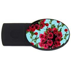 Roses Blue Usb Flash Drive Oval (2 Gb) by snowwhitegirl