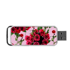 Roses Pink Portable Usb Flash (one Side) by snowwhitegirl