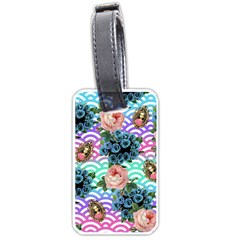 Floral Waves Luggage Tags (one Side)  by snowwhitegirl