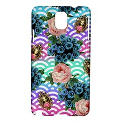 Floral Waves Samsung Galaxy Note 3 N9005 Hardshell Case by snowwhitegirl