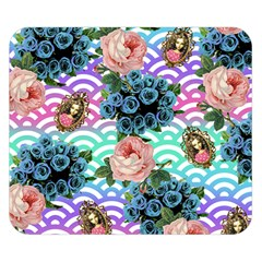 Floral Waves Double Sided Flano Blanket (small)  by snowwhitegirl