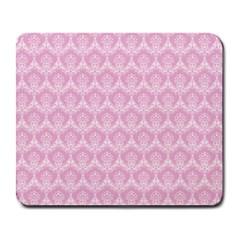 Damask Pink Large Mousepads by snowwhitegirl