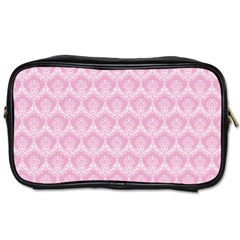 Damask Pink Toiletries Bags 2 Side by snowwhitegirl