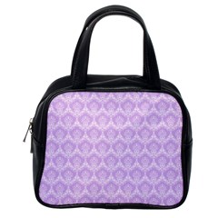 Damask Lilac Classic Handbags (one Side) by snowwhitegirl