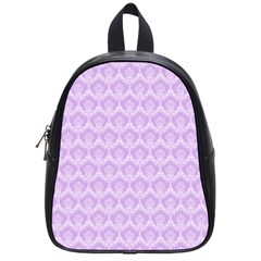 Damask Lilac School Bag (small) by snowwhitegirl