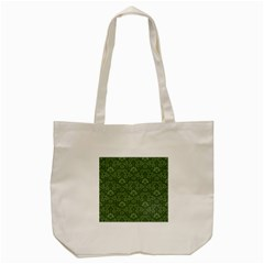 Damask Green Tote Bag (cream) by snowwhitegirl