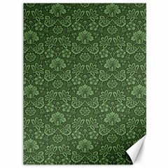 Damask Green Canvas 36  X 48   by snowwhitegirl