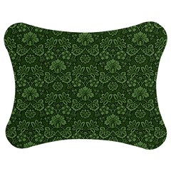 Damask Green Jigsaw Puzzle Photo Stand (bow) by snowwhitegirl