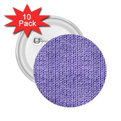 Knitted Wool Lilac 2 25  Buttons (10 Pack)  by snowwhitegirl