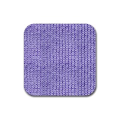 Knitted Wool Lilac Rubber Square Coaster (4 Pack)  by snowwhitegirl