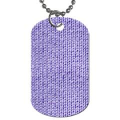 Knitted Wool Lilac Dog Tag (one Side) by snowwhitegirl