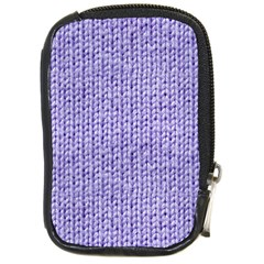 Knitted Wool Lilac Compact Camera Cases by snowwhitegirl