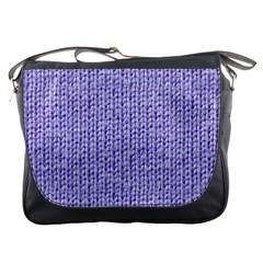 Knitted Wool Lilac Messenger Bags by snowwhitegirl