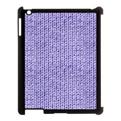 Knitted Wool Lilac Apple Ipad 3/4 Case (black) by snowwhitegirl