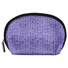 Knitted Wool Lilac Accessory Pouches (large)  by snowwhitegirl
