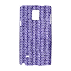 Knitted Wool Lilac Samsung Galaxy Note 4 Hardshell Case by snowwhitegirl