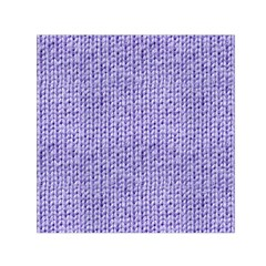 Knitted Wool Lilac Small Satin Scarf (square) by snowwhitegirl