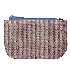 Knitted Wool Pink Light Large Coin Purse by snowwhitegirl