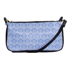 Damask Light Blue Shoulder Clutch Bags by snowwhitegirl