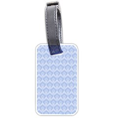Damask Light Blue Luggage Tags (one Side)