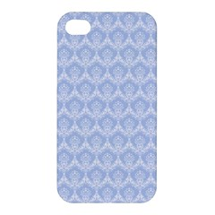 Damask Light Blue Apple Iphone 4/4s Hardshell Case by snowwhitegirl