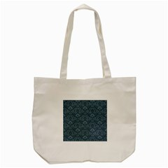 Damask Blue Tote Bag (cream) by snowwhitegirl