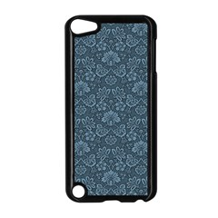 Damask Blue Apple Ipod Touch 5 Case (black) by snowwhitegirl