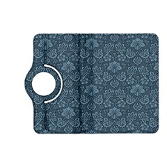 Damask Blue Kindle Fire Hd (2013) Flip 360 Case by snowwhitegirl