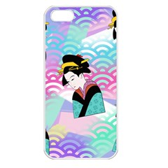 Japanese Abstract Apple Iphone 5 Seamless Case (white) by snowwhitegirl
