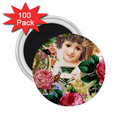 Little Girl Victorian Collage 2 25  Magnets (100 Pack)  by snowwhitegirl